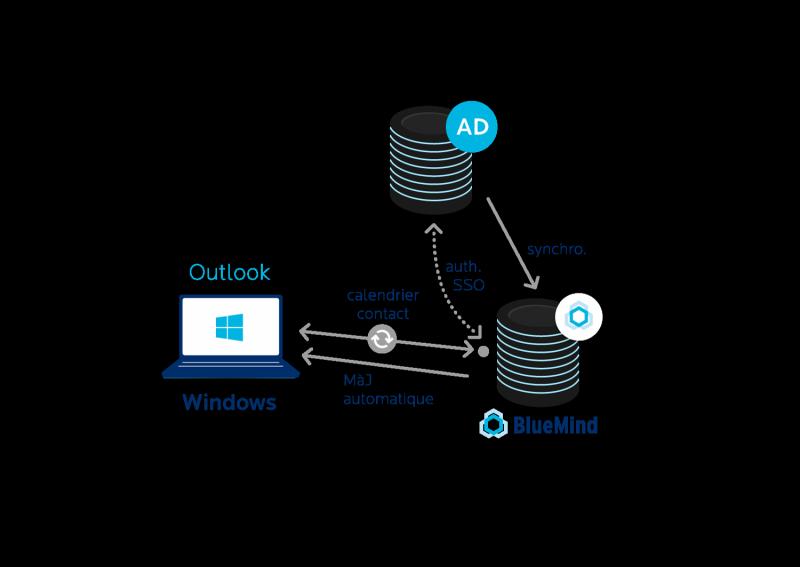 Environnement Microsoft : Outlook, Active Directory et connecteurs